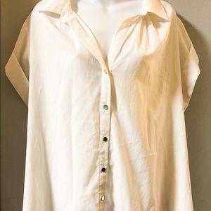 Avenue studio cream button up collar blouse 18/20